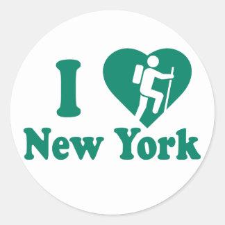 Hike New York Classic Round Sticker