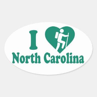 Hike North Carolina Oval Sticker