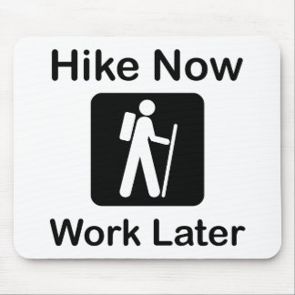 Hike Now Work Later Mouse Pad