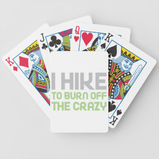 Hike off the Crazy Bicycle Playing Cards