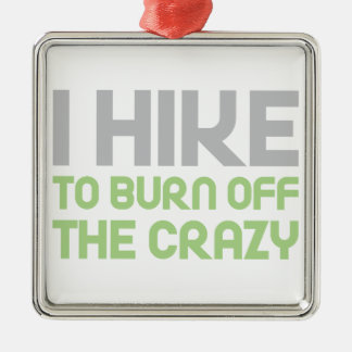 Hike off the Crazy Metal Ornament