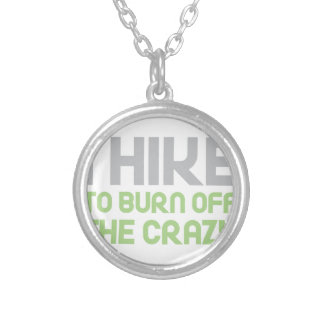 Hike off the Crazy Silver Plated Necklace