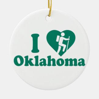 Hike Oklahoma Ceramic Ornament