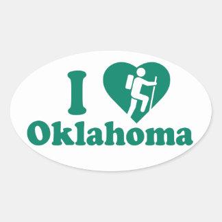 Hike Oklahoma Oval Sticker