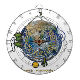 Hike Our Planet Hiker's Soul Compass Earth Dartboard With Darts