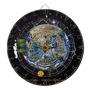 Hike Our Planet Hiker's Soul Compass Space Dartboard With Darts