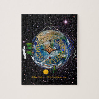 Hike Our Planet Hiker's Soul Compass Space Jigsaw Puzzle