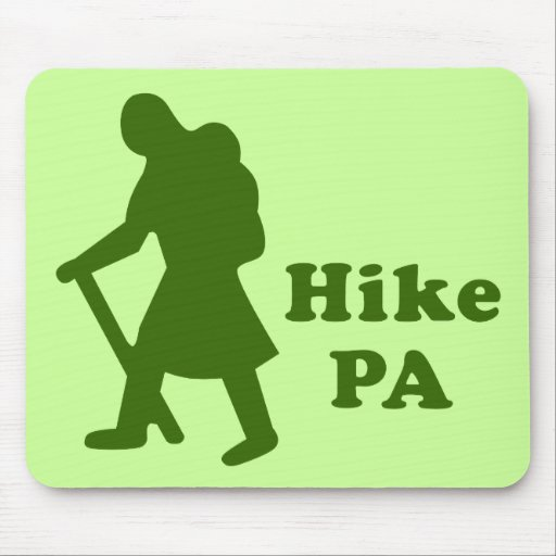 Hike PA Girl - Dark Green Mousepads