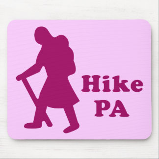 Hike PA Girl - Dark Pink Mouse Pad