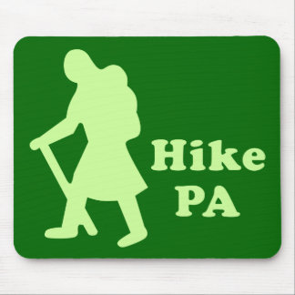 Hike PA Girl - Light Green Mouse Pads