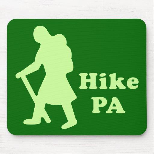 Hike PA Girl - Light Green Mouse Pads