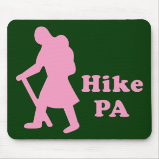 Hike PA Girl - Light Pink Mouse Pad