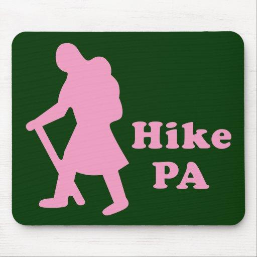 Hike PA Girl - Light Pink Mousepad