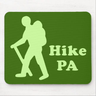 Hike PA Guy, Light Green Mouse Pad