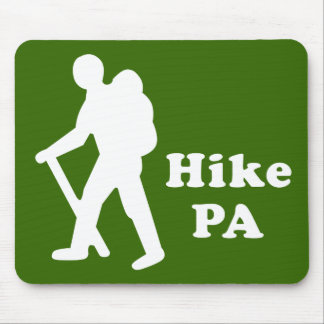 Hike PA Guy, White Mouse Pad