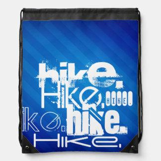 Hike; Royal Blue Stripes Drawstring Bag