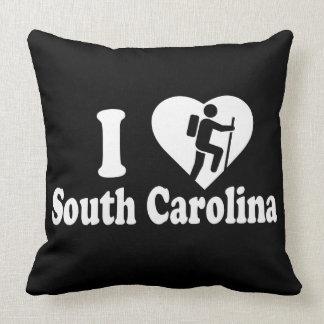 Hike South Carolina Throw Pillow