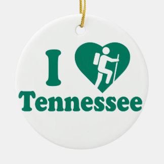 Hike Tennessee Round Ceramic Ornament