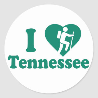 Hike Tennessee Round Sticker
