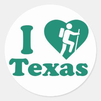 Hike Texas Round Sticker