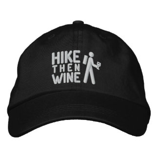 Hike then Wine Personalized Adjustable Hat Embroidered Hats