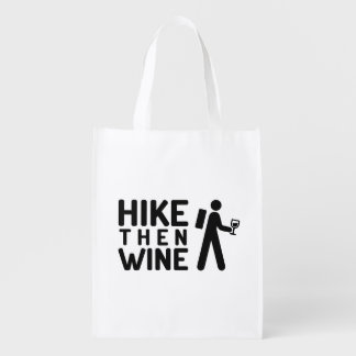 Hike then Wine Reusable bag Market Totes