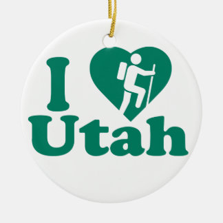 Hike Utah Ceramic Ornament