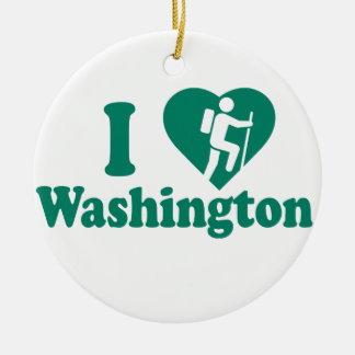 Hike Washington Ceramic Ornament