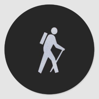 Hiker Classic Round Sticker