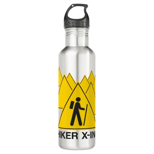 Hiker Crossing Water Bottle