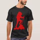 Hiker Silhouette Emblem Graphic Design Backpacker T-Shirt