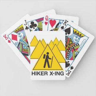 Hiker X-ing Poker Deck