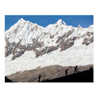 Hikers in Huaraz, Peru Postcard