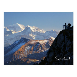 Hikers on Mount Pilatus in Lucerne Switzerland Postcard
