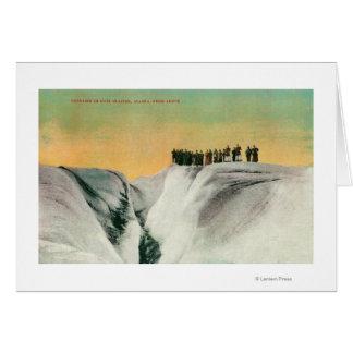 Hikers on Muir Glacier, AlaskaMuir Glacier, AK Card