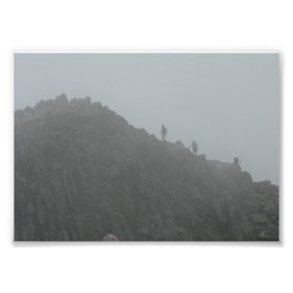 Hikers on the Knife Edge trail, Baxter State Park Photo Print