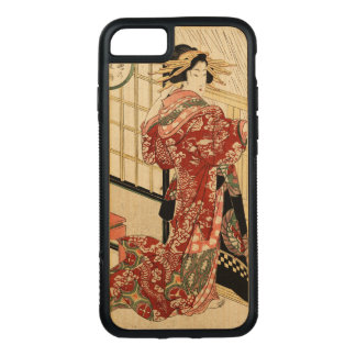 Hikeyotsu no yoru no ame (Vintage Japanese print) Carved iPhone 8/7 Case