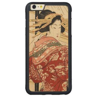 Hikeyotsu no yoru no ame (Vintage Japanese print) Carved Maple iPhone 6 Plus Bumper Case
