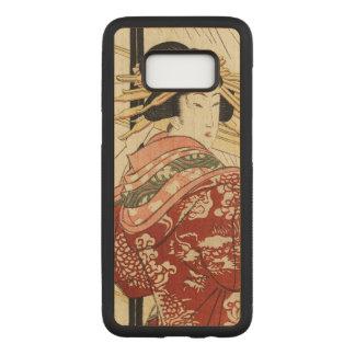 Hikeyotsu no yoru no ame (Vintage Japanese print) Carved Samsung Galaxy S8 Case