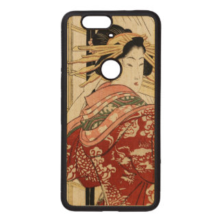 Hikeyotsu no yoru no ame (Vintage Japanese print) Wood Nexus 6P Case