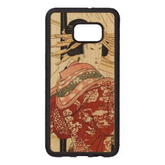 Hikeyotsu no yoru no ame (Vintage Japanese print) Wood Samsung Galaxy S6 Edge Case