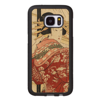 Hikeyotsu no yoru no ame (Vintage Japanese print) Wood Samsung Galaxy S7 Case