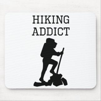 Hiking Addict Mouse Pads