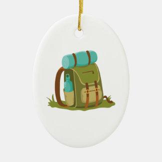 Hiking Backpack Ceramic Ornament