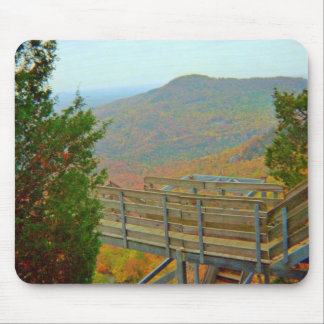 Hiking Bridge Way Above The Mountains Mouse Pad