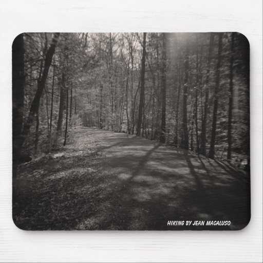 Hiking by Jean Macaluso Mouse Pad