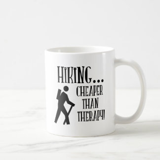 Hiking, Cheaper Than Therapy Coffee Mug
