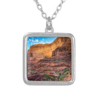 Hiking Coyote Gulch - Utah Silver Plated Necklace