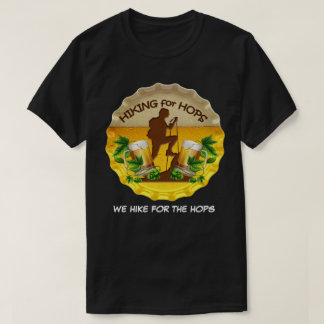 Hiking for Hops Dark Tee Shirt & Bottle Cap Logo