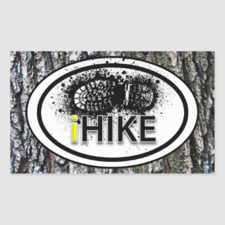 "Hiking ""iHIKE"" Boot Print Tag Stickers"